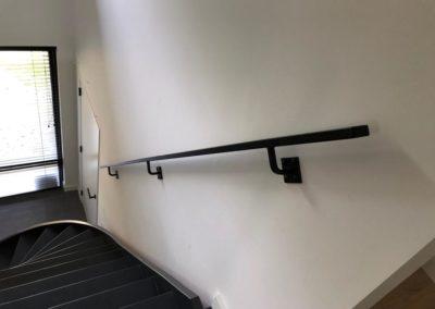 Stalen trapleuning zwart