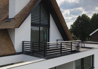 Aluminium lamellen en balkon