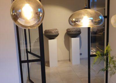 IStalen scharnierdeur met zijlichten