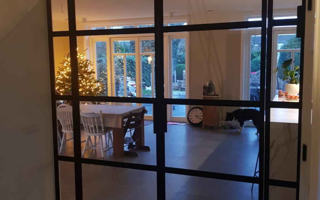 Dubbele stalen taatsdeur met zijlichten